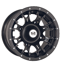 DWT Diablo Front Wheel - 14X6 Black - DWT Diablo Rear Wheel - 14x8 Black