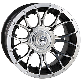 DWT Diablo Front Wheel - 14X6 Machined - 2011 Polaris RANGER 400 4X4 DWT Diablo Front Wheel - 14X6 Chrome
