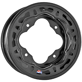 DWT Evo Front Wheel - 10X5 Black - 2011 Yamaha RAPTOR 700 DWT .125 Aluminum Blue Label Rear Wheel - 8X8 3B+5N