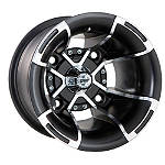 DWT FUSION REAR WHEEL - 10x9 MACHINED - Utility ATV Rims & Wheels
