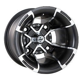 DWT FUSION REAR WHEEL - 10x9 MACHINED - 2002 Polaris SCRAMBLER 500 4X4 DWT .160 Aluminum Black Label Front Wheel - 10X5 3B+2N