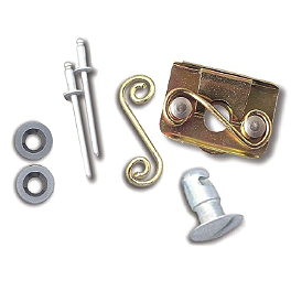 Lockhart Phillips Slotted Fastener Kits - Lockhart Phillips Carbon Inlay Swingarm Buttons