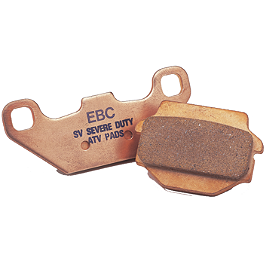 "EBC ""R"" Series Sintered Brake Pads - Front - 2006 Yamaha BIGBEAR 400 4X4 Moose 387X Rear Wheel - 12X8 2B+6N Black"