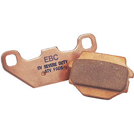 "EBC ""R"" Series Sintered Brake Pads - Rear - 2002 Kawasaki KX125 EBC Dirt Racer Clutch Kit"