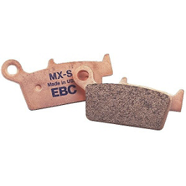 "EBC ""MX-S"" Brake Pads - Rear - 2001 Kawasaki KDX220 EBC Dirt Racer Clutch Kit"