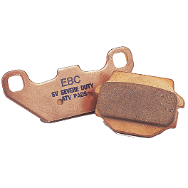 "EBC ""R"" Series Sintered Brake Pads - Rear - 2009 Polaris OUTLAW 525 IRS Kenda Scorpion Front / Rear Tire - 25x12-9"