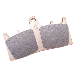 EBC HH Brake Pads - Front - 1997 Honda Rebel 250 - CMX250C Arlen Ness Battistini Round Rear Footpegs - Black
