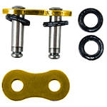 EK Chains 520 MVXZ X-Ring Master Link - Rivet Style / Gold - EK CHAINS Cruiser Parts
