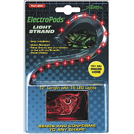 StreetFX Electropod LED Strip Lights - Kuryakyn Super Lizard Light Kit - Sportbikes