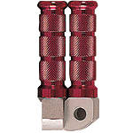 Emgo Aluminum Rear Footpegs - Red - Emgo Motorcycle Products