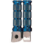 Emgo Aluminum Front Footpegs - Blue - Emgo Motorcycle Foot Controls