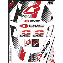 EVS R4 Neck Support Graphics - Crossfade - EVS R4 Neck Support Graphics