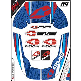 EVS R4 Neck Support Graphics - Martini - 1996 Honda CR500 UFO Front Disc Guard
