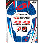 EVS R4 Neck Support Graphics - Martini - EVS-FOUR EVS Dirt Bike