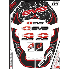EVS Youth R4 Neck Support Graphics - Luchador - EVS Youth R4 Neck Support Graphics - Crossfade