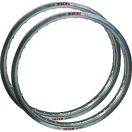 Excel Rim & Spoke Combo - Front & Rear Silver - 1995 Kawasaki KX500 Pro Wheel Rim & Spoke Combo