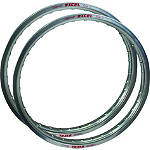 Excel Rim & Spoke Combo - Front & Rear Silver - Dirt Bike Rims, Spokes & Motocross Rim Parts