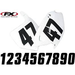 "Factory Effex Factory Numbers - 6"" - 2012 Kawasaki KX100 Factory Effex All-Grip Seat Cover"