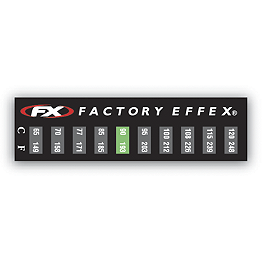 Factory Effex Temperature Stickers - 3 Pack - Factory Effex Factory Numbers 4