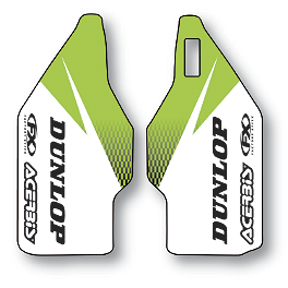 2013 Factory Effex Fork Guard Graphics - Kawasaki - 2010 Kawasaki KX250F Factory Effex FP1 Factory Pleated Gripper Seat Cover - Kawasaki