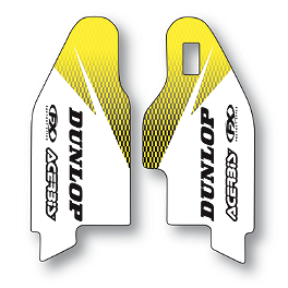 2013 Factory Effex Fork Guard Graphics - Suzuki - 2012 Suzuki RMZ450 Factory Effex OEM Graphics 12 Suzuki