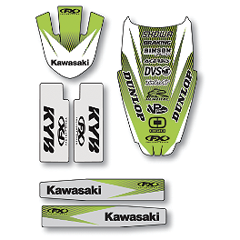 Factory Effex Standard Trim Kit - Kawasaki - 2005 Kawasaki KX125 2013 Factory Effex Rear Fender Decal - Kawasaki