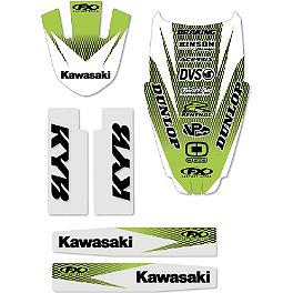Factory Effex Standard Trim Kit - Kawasaki - 2013 Factory Effex Fork Guard Graphics - Kawasaki