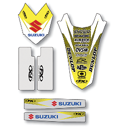 Factory Effex Standard Trim Kit - Suzuki - 2001 Suzuki RM125 Factory Effex DX1 Backgrounds Pro - Suzuki