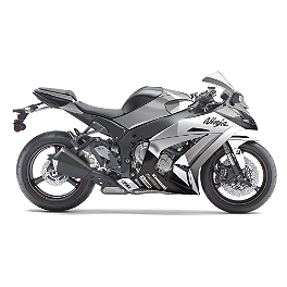 Factory Effex EV-R Complete Graphic Kit - Black / White - 2010 Kawasaki ZX600 - Ninja ZX-6R Factory Effex Windscreen Graphic Kit