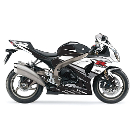 Factory Effex EV-R Complete Graphic Kit - Black / White - 2007 Suzuki GSX-R 750 Factory Effex EV-R Complete Graphic Kit - OEM Colors