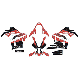 Factory Effex EV-R Complete Graphic Kit - OEM Colors - 2008 Honda CBR600RR Factory Effex EV-X Complete Graphic Kit - OEM Colors