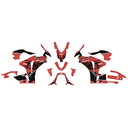 Factory Effex EV-X Complete Graphic Kit - OEM Colors - 2011 Honda CBR1000RR ABS Factory Effex Lower Graphic Kit