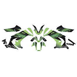 Factory Effex EV-X Complete Graphic Kit - OEM Colors - 2010 Kawasaki EX650 - Ninja 650R Factory Effex Upper Graphic Kit