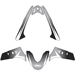 Factory Effex Fender Trim Kit - Black / White - 2007 Yamaha YZF - R1 Factory Effex EV-R Complete Graphic Kit - OEM Colors