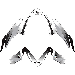 Factory Effex Fender Trim Kit - Black / White - 2007 Suzuki GSX-R 750 Factory Effex EV-R Complete Graphic Kit - OEM Colors