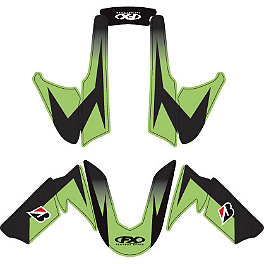 Factory Effex Fender Trim Kit - OEM Colors - 2010 Kawasaki ZX600 - Ninja ZX-6R Factory Effex EV-R Complete Graphic Kit - OEM Colors