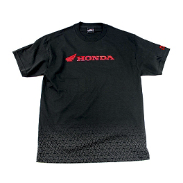 Factory Effex Honda Fade T-Shirt - One Industries Honda Strike Baseball T-Shirt