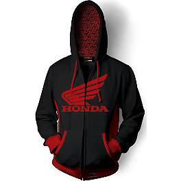 Factory Effex Honda Limit Zip Hoody - Factory Effex Honda Horizontal Hoody