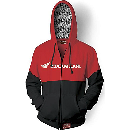 Factory Effex Honda Double Zip Hoody - Factory Effex Honda Flexfit Hat