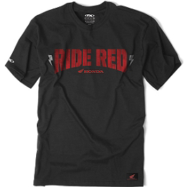 Factory Effex Honda Ride Red Bolt T-Shirt - Factory Effex Honda Ride Red Vert T-Shirt
