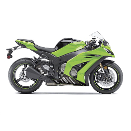 Factory Effex Lower Graphic Kit - 2008 Kawasaki EX250 - Ninja 250 Factory Effex EV-R Complete Graphic Kit - OEM Colors