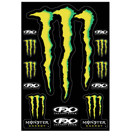 Factory Effex Monster Energy XL Sticker Kit Sheet - Main