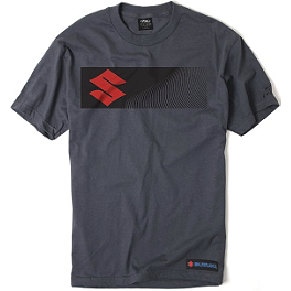 "Factory Effex Suzuki ""S"" Bar T-Shirt - Factory Effex Suzuki Big S T-Shirt"