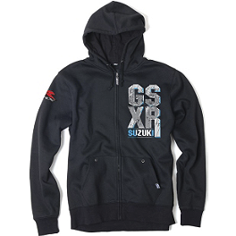 Factory Effex Suzuki GSXR Zip Hoody - Fox Schematica Zip Front Fleece
