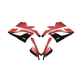 Factory Effex Upper Graphic Kit - 2008 Honda CBR600RR Factory Effex EV-X Complete Graphic Kit - OEM Colors