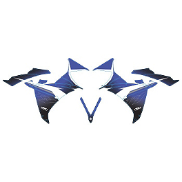 Factory Effex Upper Graphic Kit - 2007 Yamaha YZF - R6 Factory Effex Fender Trim Kit - OEM Colors