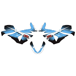 Factory Effex Upper Graphic Kit - 2012 Suzuki GSX-R 750 Factory Effex EV-R Complete Graphic Kit - OEM Colors