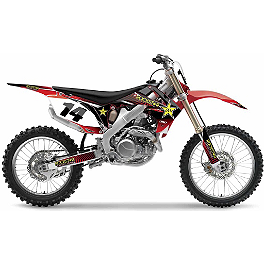 2013 Factory Effex Rockstar Complete Graphics Kit - Honda - 2010 Honda CRF250R Factory Effex All-Grip Seat Cover