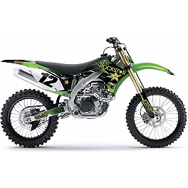 2013 Factory Effex Rockstar Complete Graphics Kit - Kawasaki - 2010 Kawasaki KX250F Factory Effex All-Grip Seat Cover