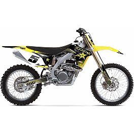 2013 Factory Effex Rockstar Complete Graphics Kit - Suzuki - 2011 Suzuki RMZ450 Factory Effex All-Grip Seat Cover